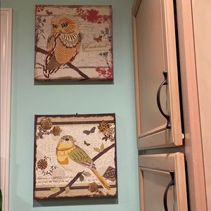 Set of 2 Canvas Bird pictures
